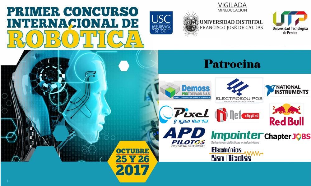 Primer concurso <span> Internacional de Robótica </span>
