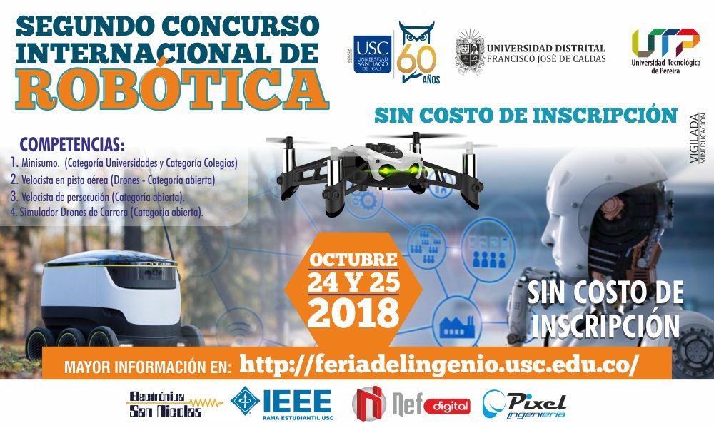 Segundo concurso <span> Internacional de Robótica </span>