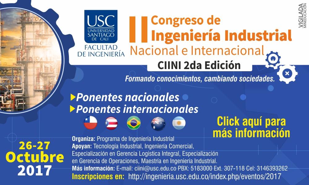 II Congreso de <span> Ingeniería Industrial </span>