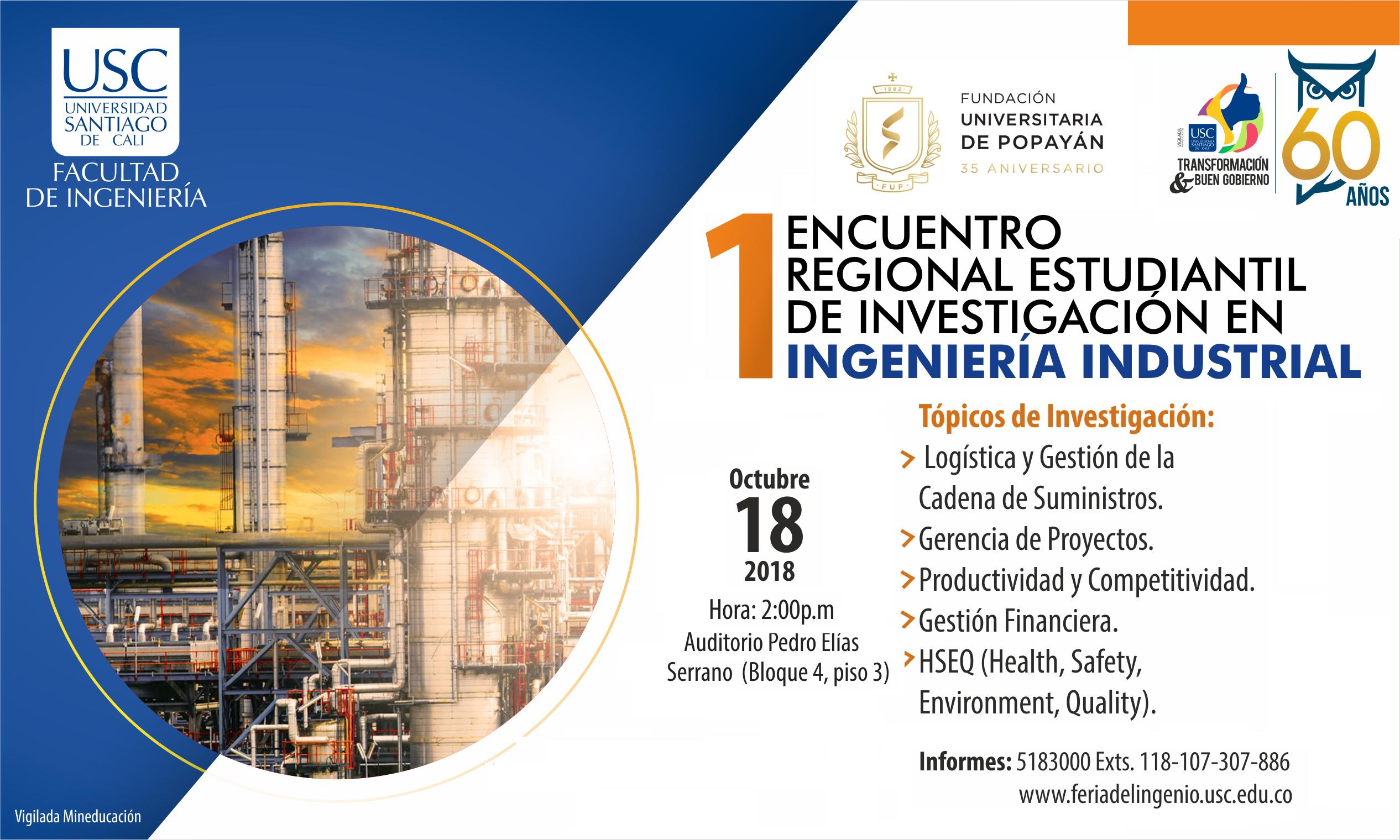 I Encuentro Regional Estudiantil de <span> Ingeniería Industrial </span>